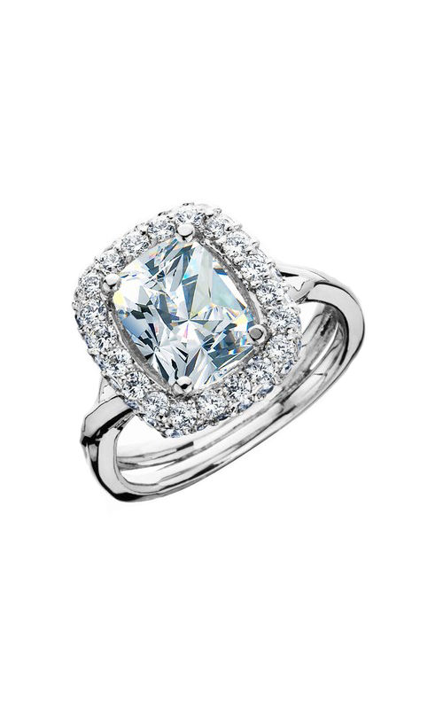 HL Mfg Halo Engagement ring 10666W product image