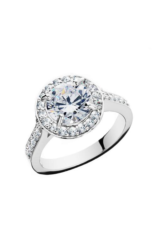 HL Mfg Halo Engagement ring 10662W product image