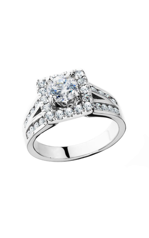 HL Mfg Halo Engagement ring 10658W product image