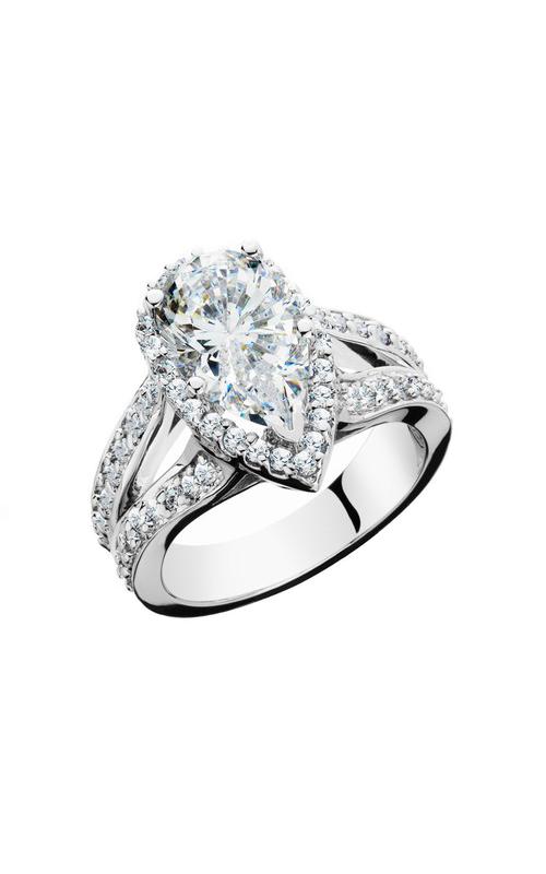 HL Mfg Halo Engagement ring 10656W product image