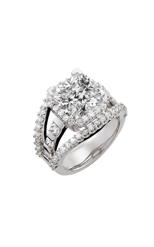 HL Mfg Halo Engagement ring 10644W product image