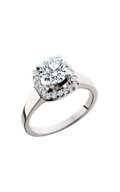 HL Mfg Halo Engagement ring 10615W product image
