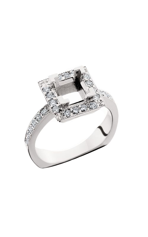 HL Mfg Halo Engagement ring 10571W product image