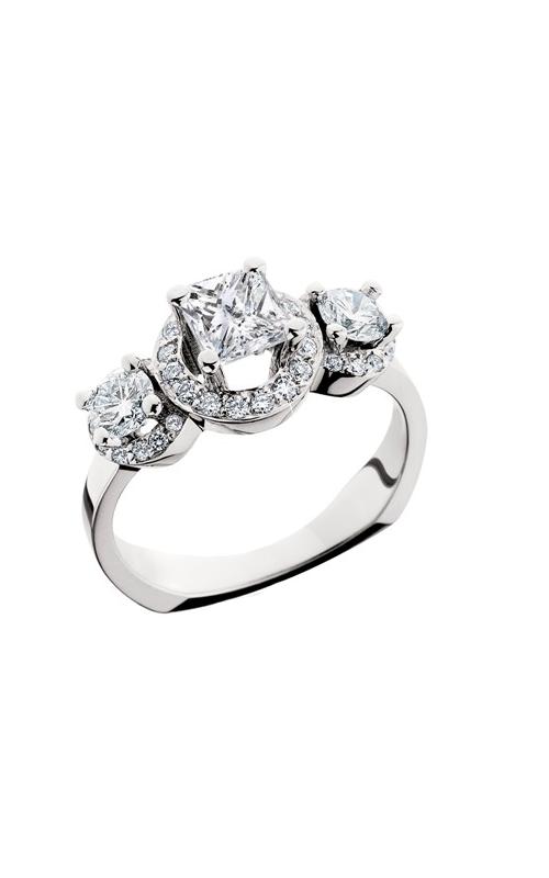 HL Mfg Halo Engagement ring 10568W product image