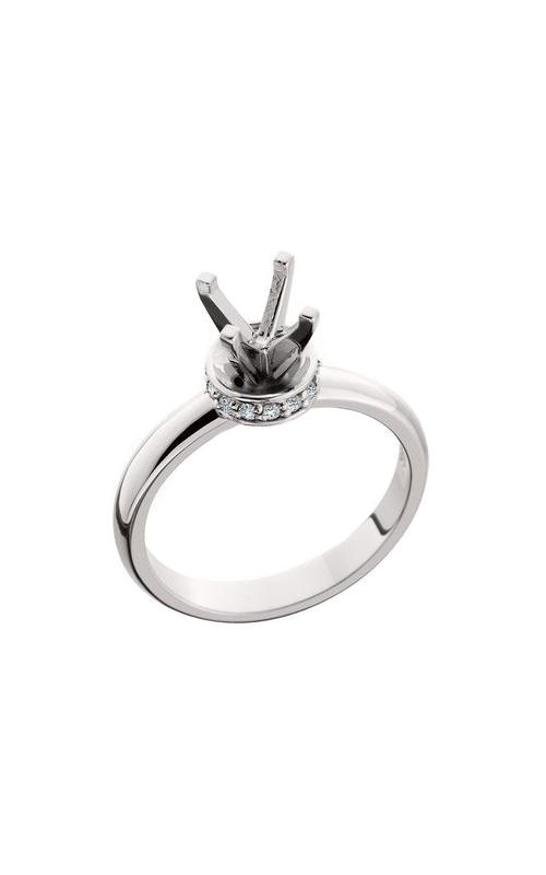 HL Mfg Halo Engagement ring 10565W product image