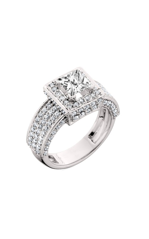 HL Mfg Halo Engagement ring 10451W product image