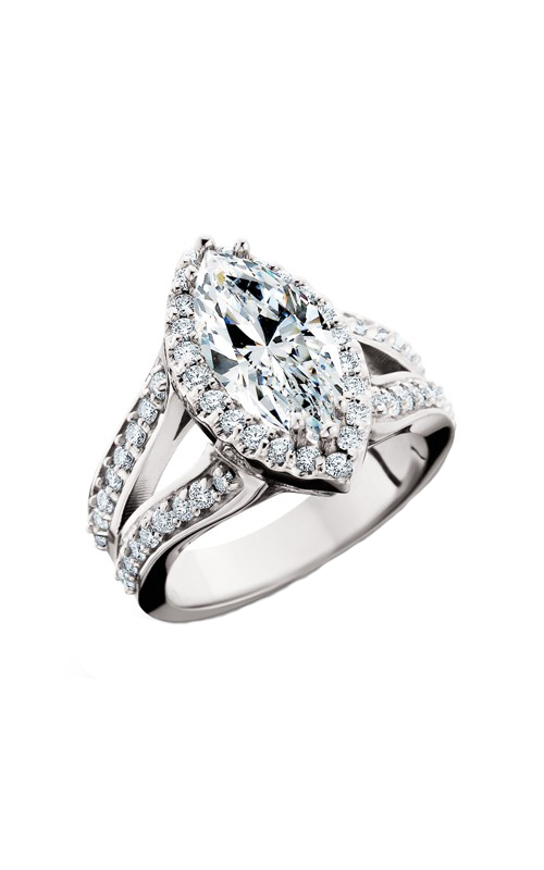 HL Mfg Halo Engagement ring 10639W product image