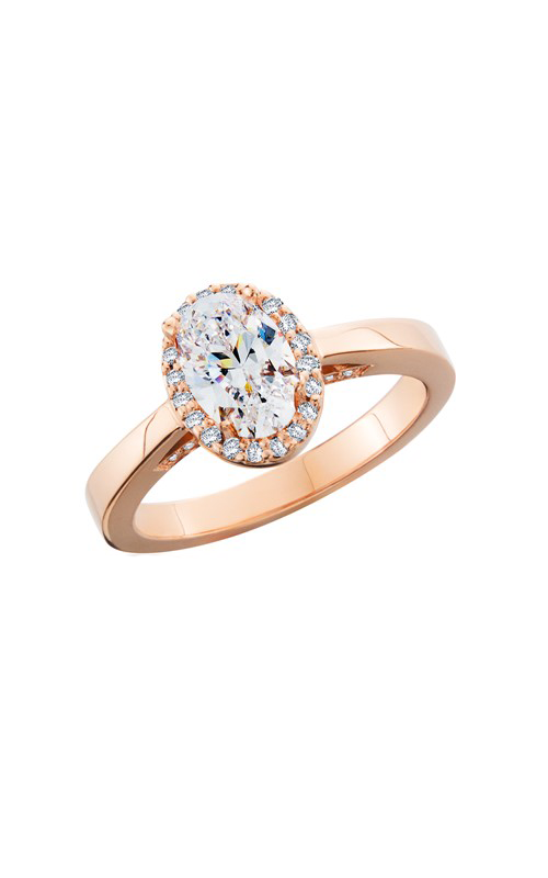 HL Mfg Halo Engagement ring 10749RG product image