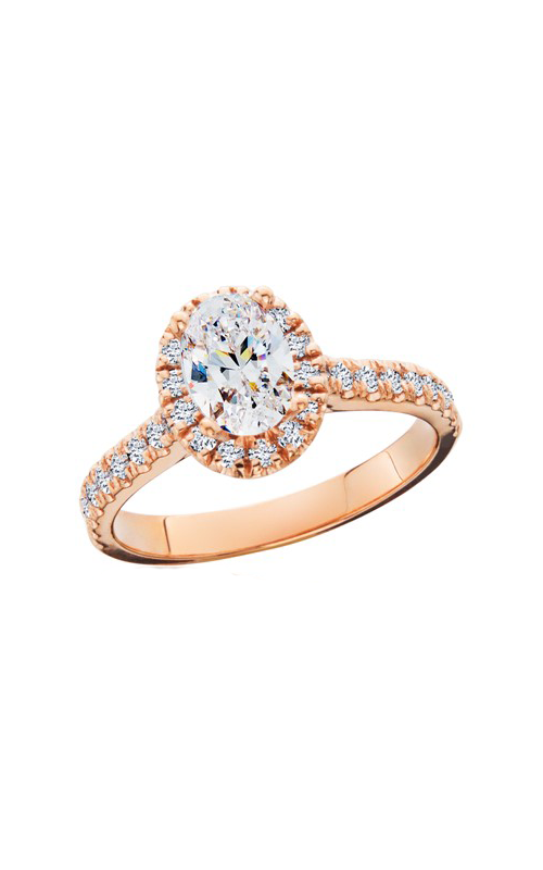 HL Mfg Halo Engagement ring 10774RG product image
