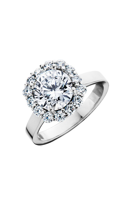 HL Mfg Halo Engagement ring 10778W product image