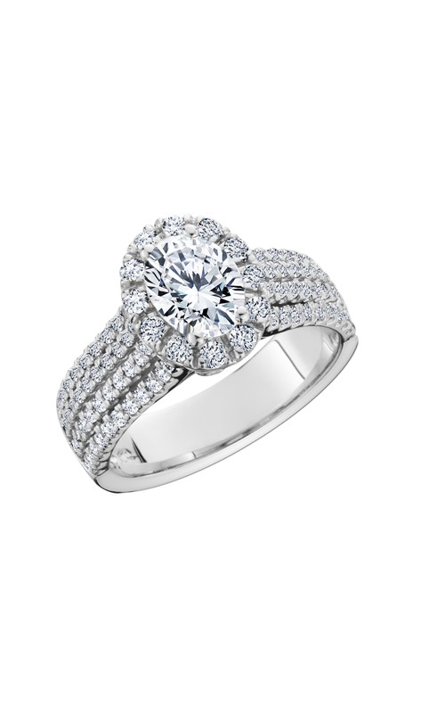 HL Mfg Halo Engagement ring 10699W-8x6 product image