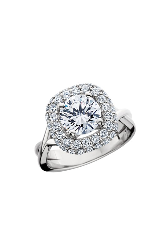 HL Mfg Halo Engagement ring 10697W product image