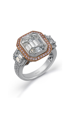 Simon G LP2061 Engagement Ring | 18K Rose Gold & 18K White Gold product image