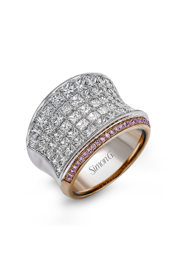 Simon G MR1720 Fashion Ring | 18K Rose Gold And 18K White Gold product image