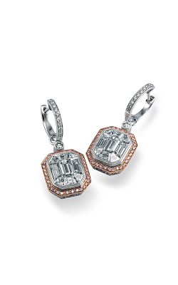 Simon G Mosaic ME2061 Earrings | 18K Rose Gold & 18K White Gold product image