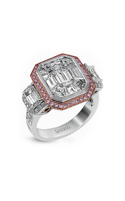 Simon G LP2068-A Engagement Ring | 18K Rose and 18K White Gold product image