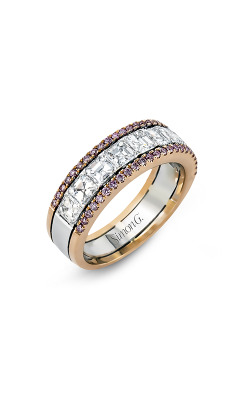 Simon G MR2338 Wedding Band | 18K Rose & 18K White Gold product image