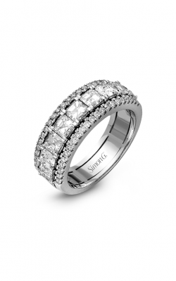 Simon G LP1875 Wedding Band | 18K White Gold product image