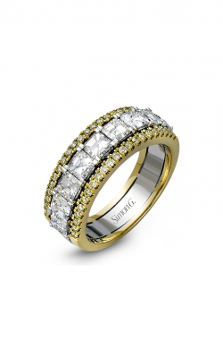 Simon G LP1875 Wedding Band | 18K White & 18K Yellow Gold product image