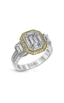 Simon G LP1996 Engagement Ring | 18K White & 18K Yellow Gold product image