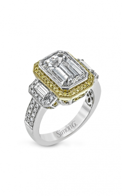 Simon G LP2061 Engagement Ring | Platinum & 18K Yellow Gold product image