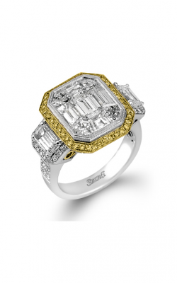 Simon G LP2068-A Engagement Ring | 18K White & 18K Yellow Gold product image