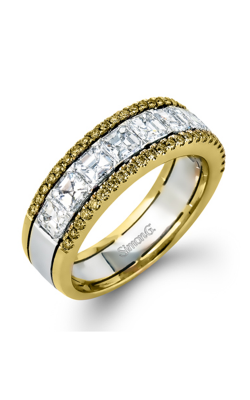 Simon G Modern Enchantment Wedding Band MR2338 | 18k White, Yellow Gold product image