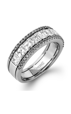 Simon G Modern Enchantment Wedding Band MR2338 | 18k White Gold product image