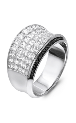 Simon G MR1720 Fashion Rings | 18K Black Gold & 18K White Gold product image