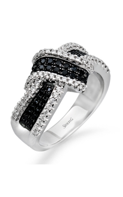 Simon G MR1428 Fashion Ring | 18K Black & 18K White Gold product image