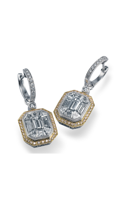 Simon G Mosaic ME2061 Earrings | 18K White Gold & 18K Yellow Gold product image