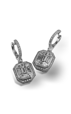 Simon G Mosaic ME2061 Earrings | 18K White Gold product image