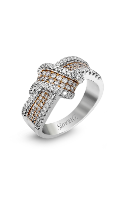 Simon G MR1428 Fashion Ring | 18K Rose And 18K White Gold product image