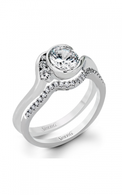 Simon G Classic Romance Wedding Set Mr2549 product image