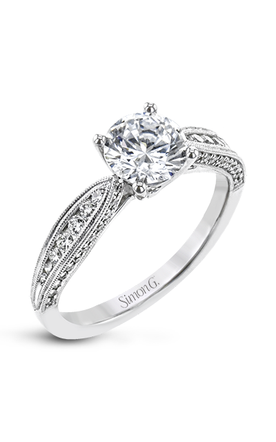 Simon G Side Hustle Engagement Ring TR784 product image