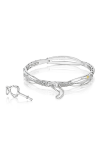Tacori Promise Bracelet Round, Silver with Pavé Diamonds SB188M