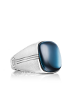 Tacori Cushion Cabochon featuring Sky Blue Hematite Men's Ring MR10037