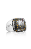 Tacori Cushion Cabochon featuring Tiger Iron Men's Ring MR10039