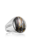 Tacori Oval Cabochon featuring Tiger Iron Men's Ring MR10439