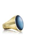 Tacori Oval Cabochon featuring Sky Blue Hematite Men's Ring MR104Y37