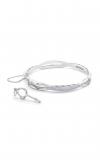 Tacori Promise Bracelet Oval, Silver with Pavé Diamonds SB192-M