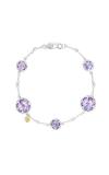 Tacori Multi Gem Chain Bracelet featuring Amethyst SB20201