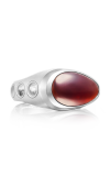 Tacori Gemstone Vented featuring Garnet over Mother of Pearl Men's Ring MR10841