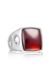 Tacori Vented Gemstone featuring Garnet over Mother of Pearl Men's Ring MR10541