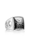 Tacori Vented Hammered Silver Men's Ring MR10540