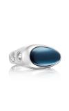 Tacori Vented featuring London Blue Topaz over Hematite Men's Ring MR10837