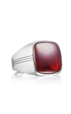 Tacori Cushion Cabochon featuring Garnet over Mother of Pearl Men's Ring MR10041