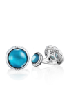 Tacori Classic Cabochon Cuff Links featuring Sky Blue Topaz over Mother of Pearl Cufflinks MCL10542