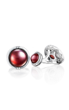 Tacori Classic Cabochon Cuff Links featuring Garnet over Mother of Pearl Cufflinks MCL10541