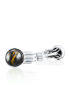 Tacori Gemstone Racing Cuff Links featuring Tiger Iron over Hematite Cufflinks MCL11239
